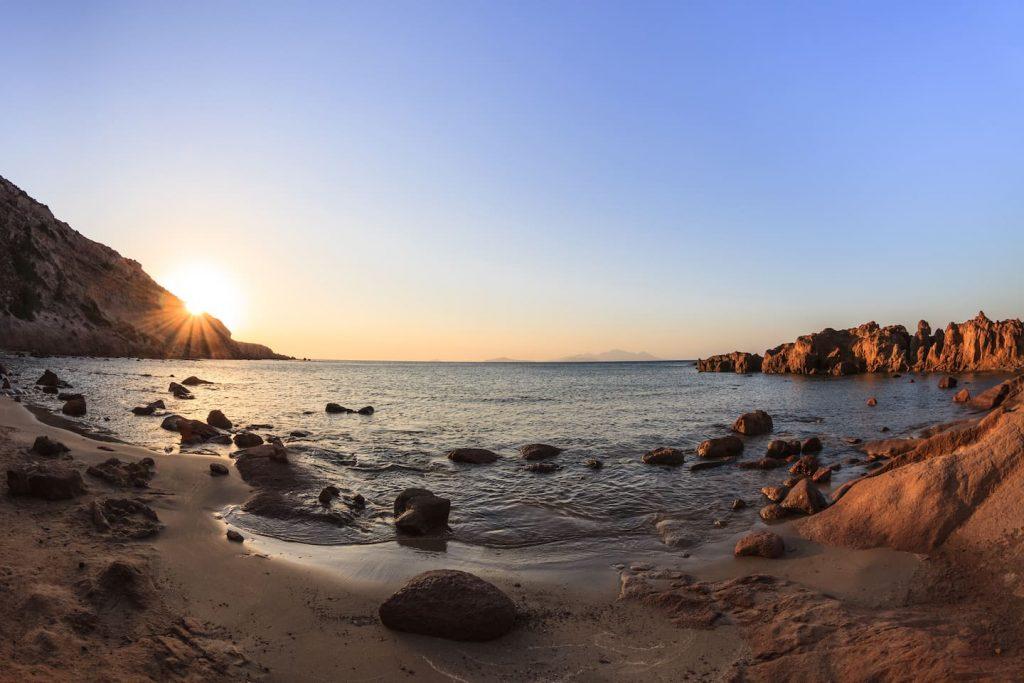 Beach near kefalos bay