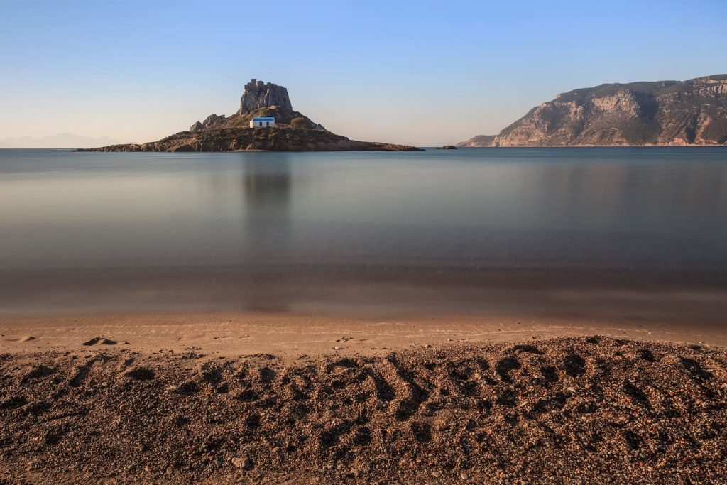 Beach with view in kastri island